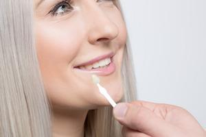 A woman gets her teeth whitened | humble tx teeth whitening