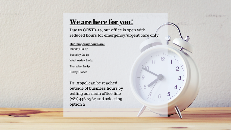 Temporary Office Hours | Humble TX